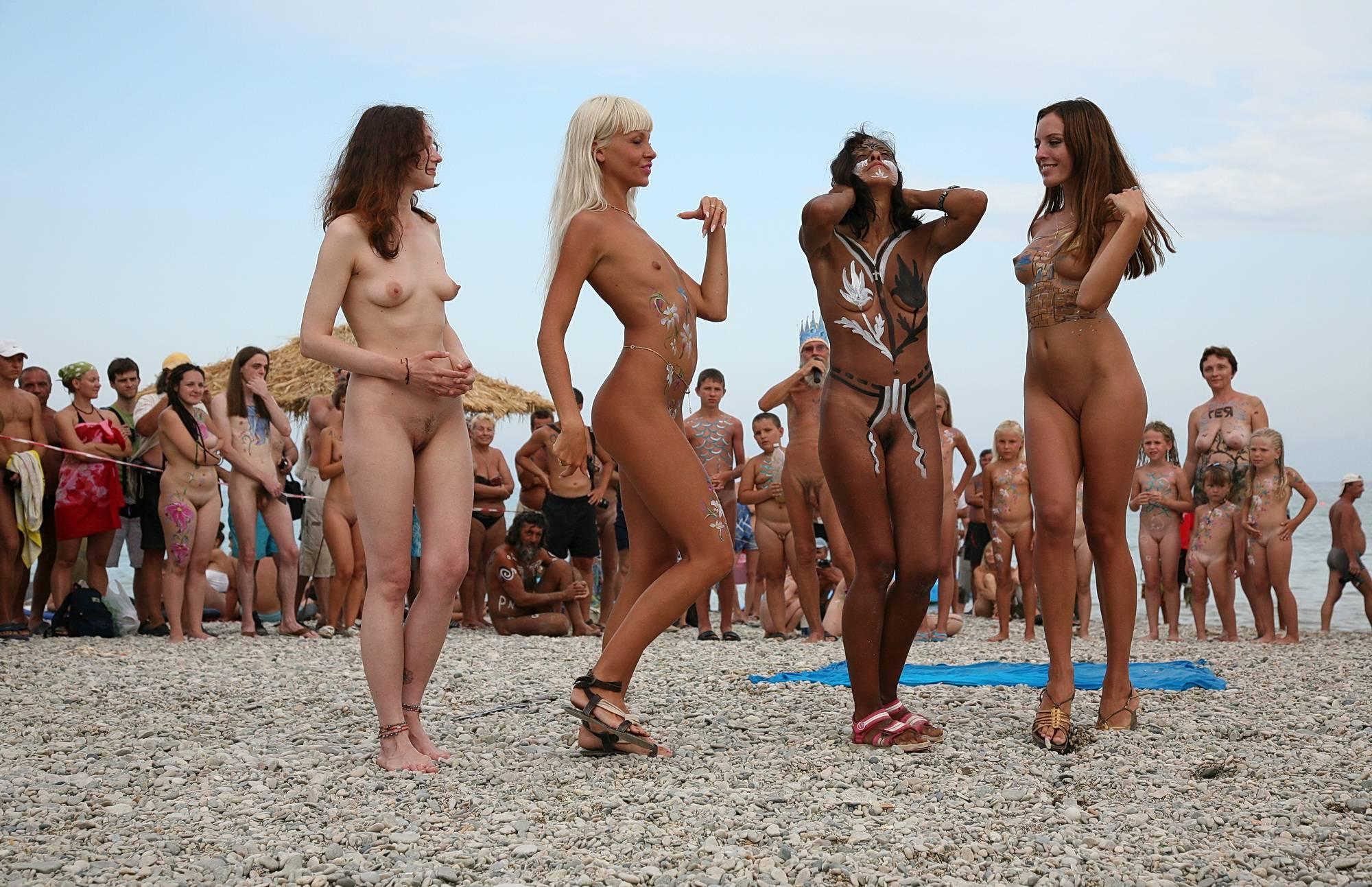 Nudist Pictures Body Art Demonstration - 2