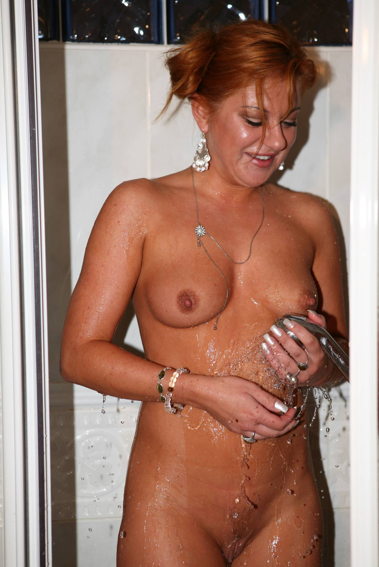 Nudist Pictures Body-Painted Girl Shower - 1