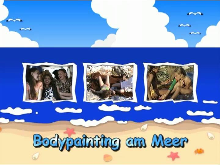 Bodypainting am Meer - Poster