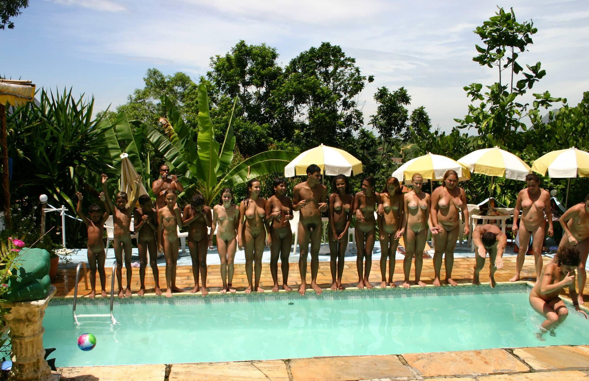 Nudist Gallery Brazilian Pool Line Group - 2
