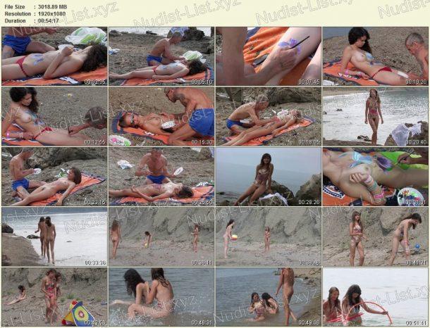 Body Art Nudist Beach. Part 1 - shots 1