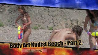 Candid-HD.com - Body Art Nudist Beach. Part 2