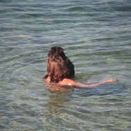 Crete Dog-Bathing Woman