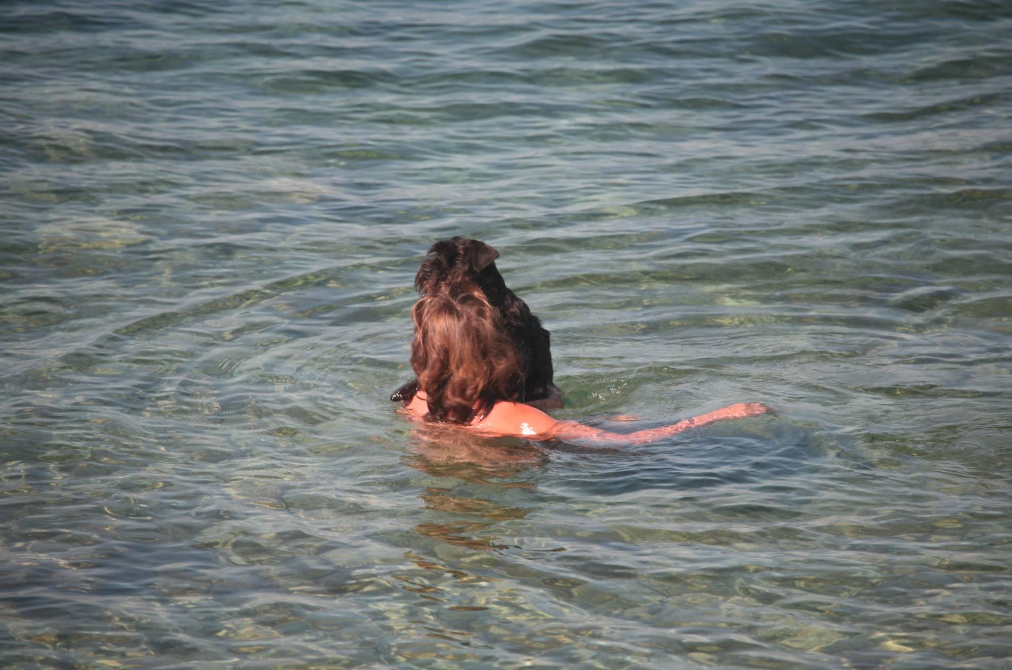 Nudist Photos Crete Dog-Bathing Woman - 1
