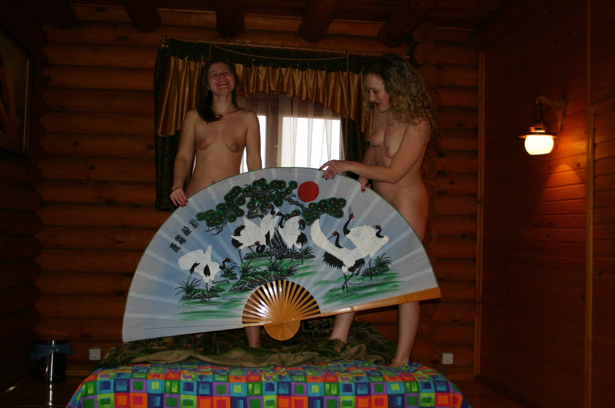 Nudist Pictures Dual Asian Fan Playground - 2