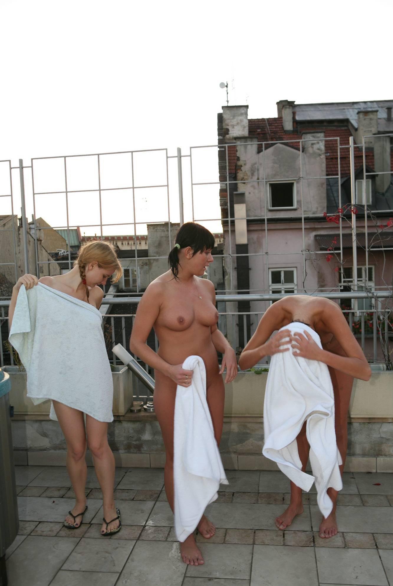 Nudist Pics Jacuzzi Towel Dry Down - 2
