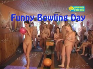 Funny Bowling Day - Naturist Freedom