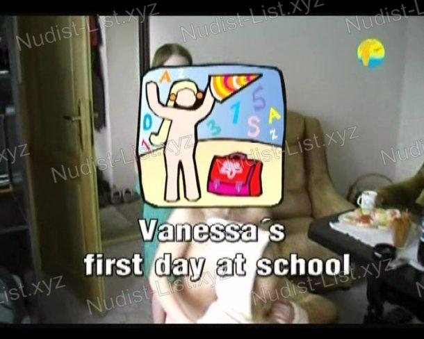 Vanessa's first day at school shot
