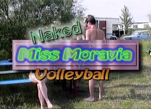 Frame of Naked Miss Moravia Volleyball
