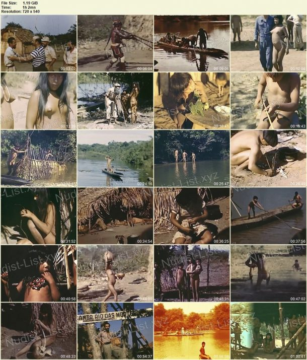 Xingu indians - Expedition to rainforests of Brazil in 1948 - frames 1