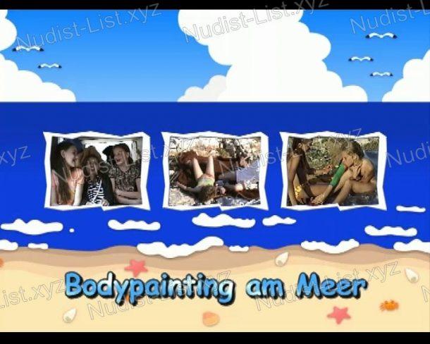 Screenshot Bodypainting am Meer