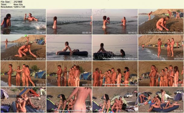 Film stills Young Naturists on a Nudist Beach - Nature-Girls.net 1