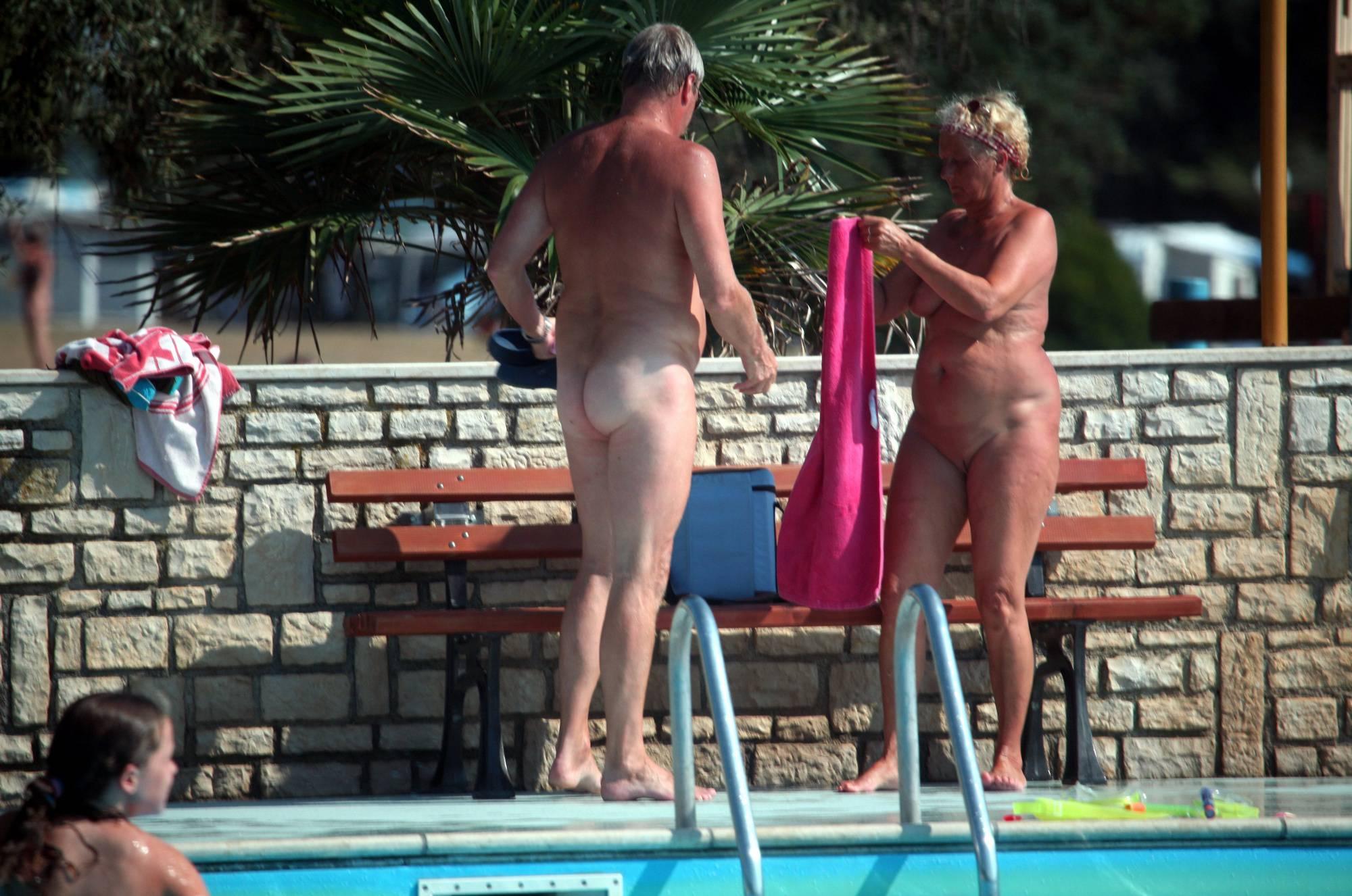 Nudist Photos Naturist Pool Cleaning-Up - 2