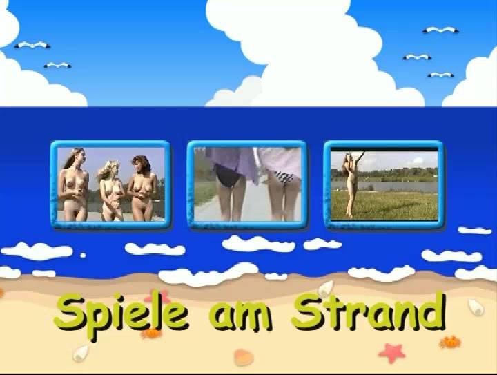 Nudist Movies Spiele am Strand - Poster
