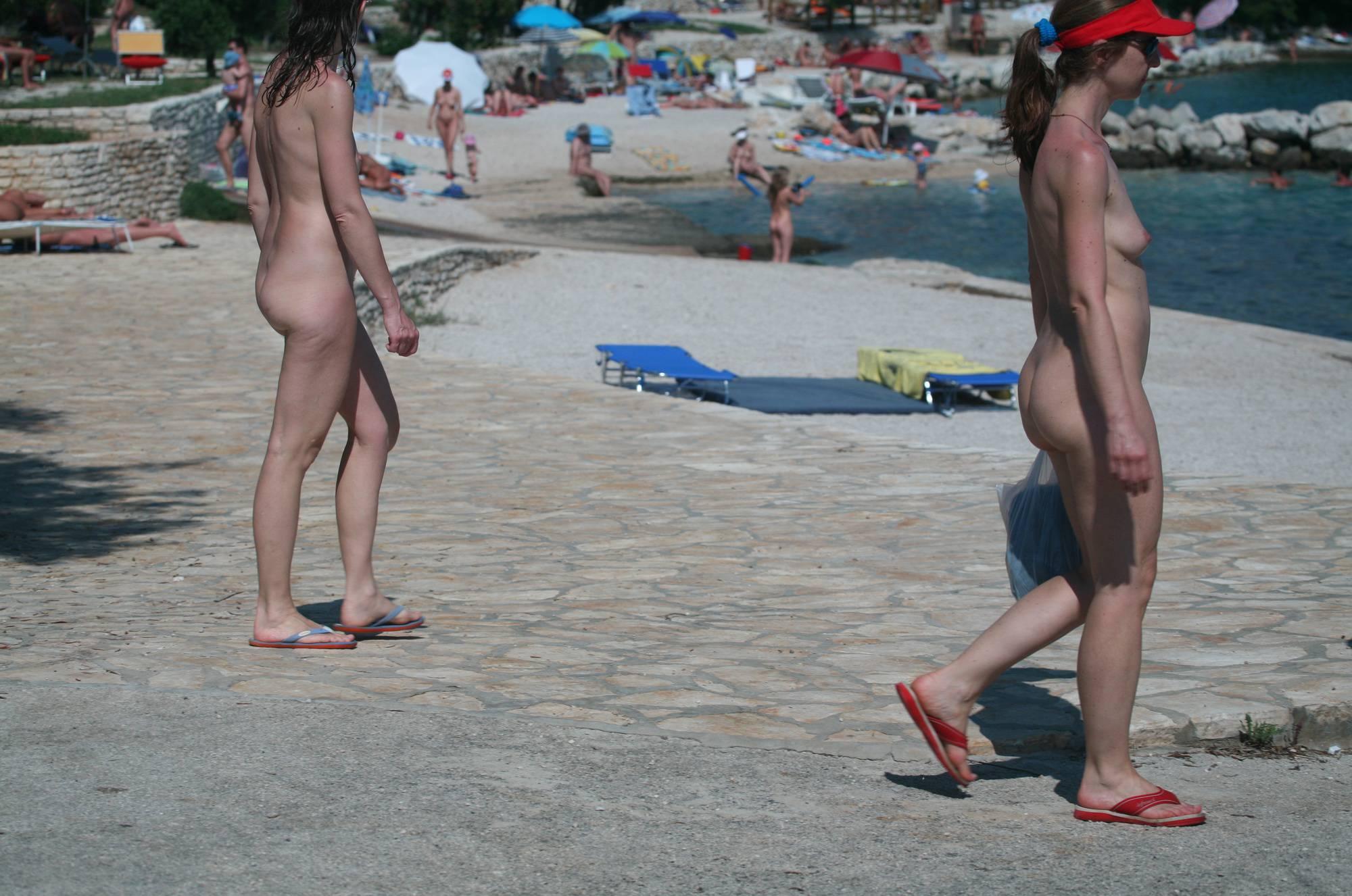 Nudist Beach Pedestrians - 1