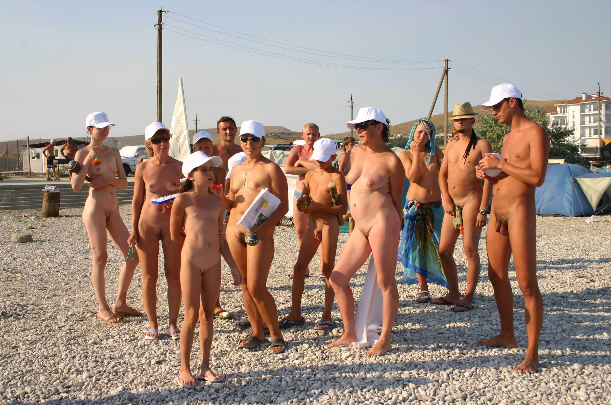 Nudist Family Flag Parade - 2