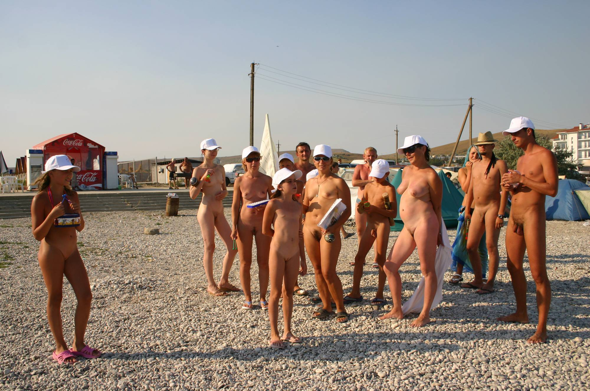 Nudist Pics Nudist Family Flag Parade - 1
