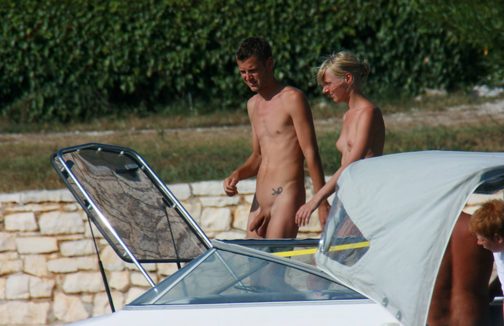 Nudist Pictures Casual Beachside Strolling - 1