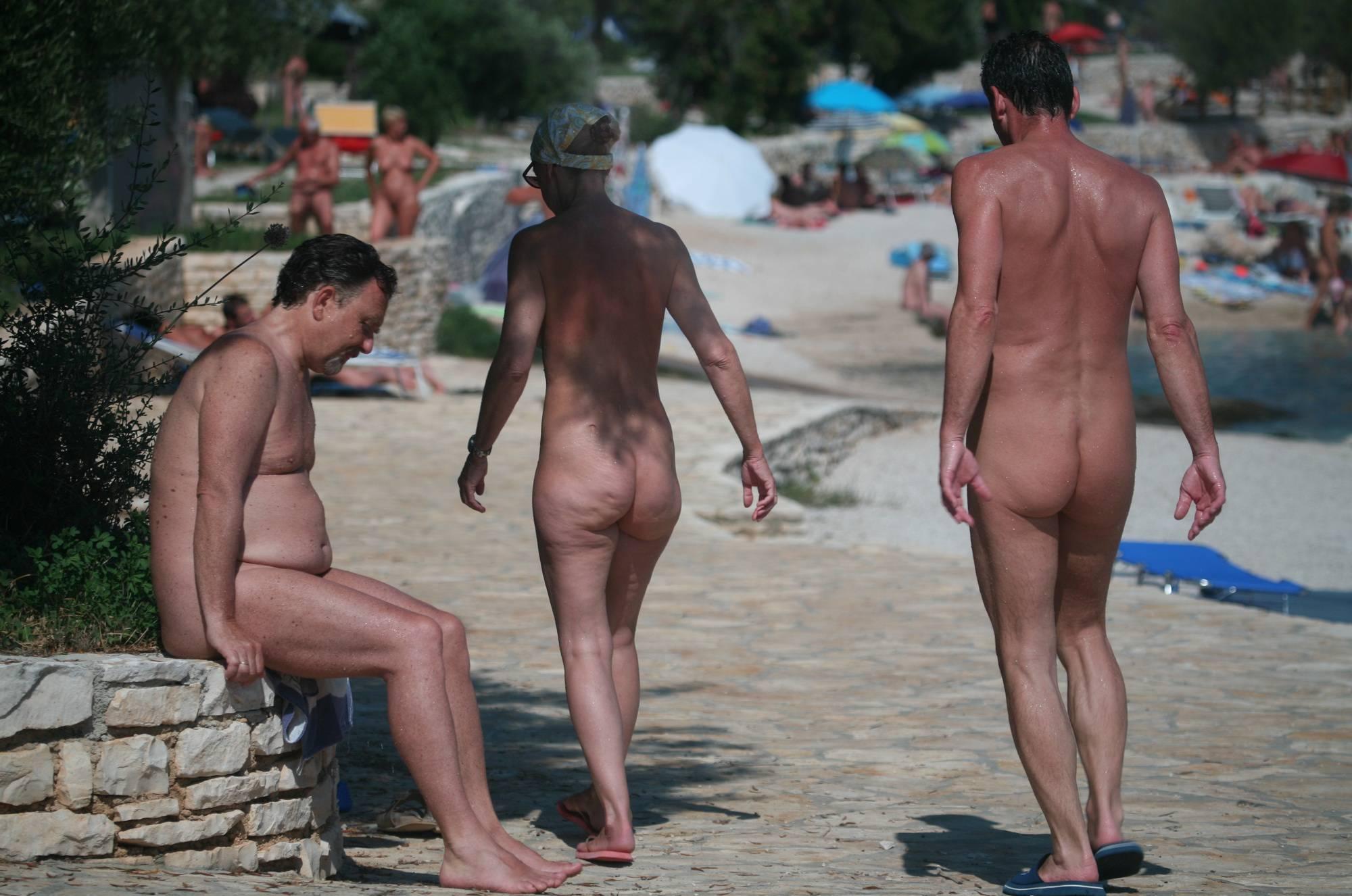 Nudist Beach Pedestrians - 2