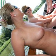 River Boat Front View Fun