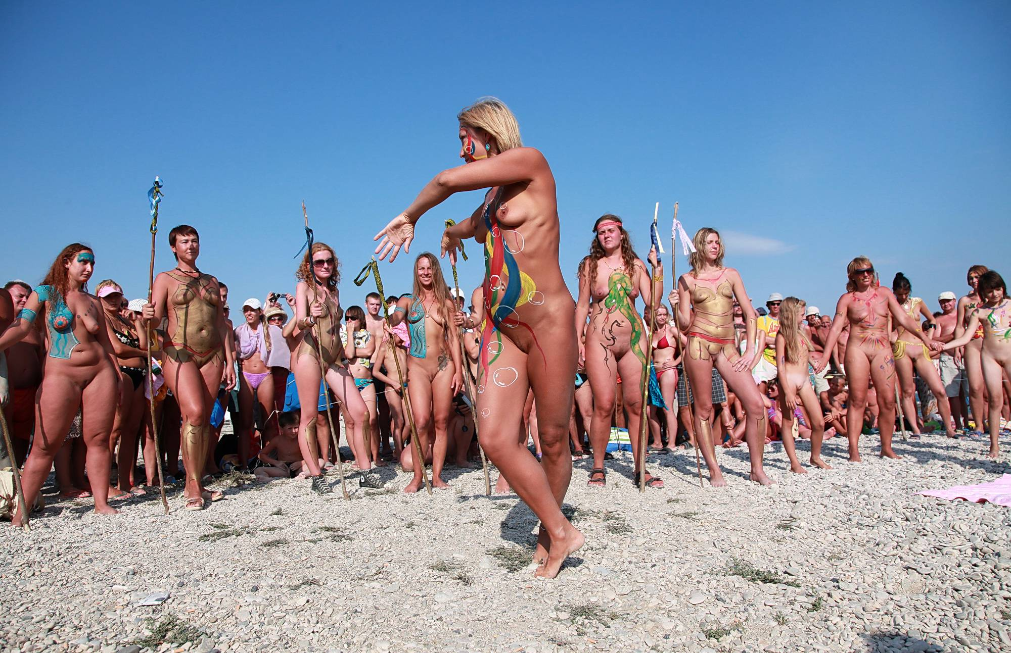 Nudist Pictures Vibrant Sea Dance Party - 2