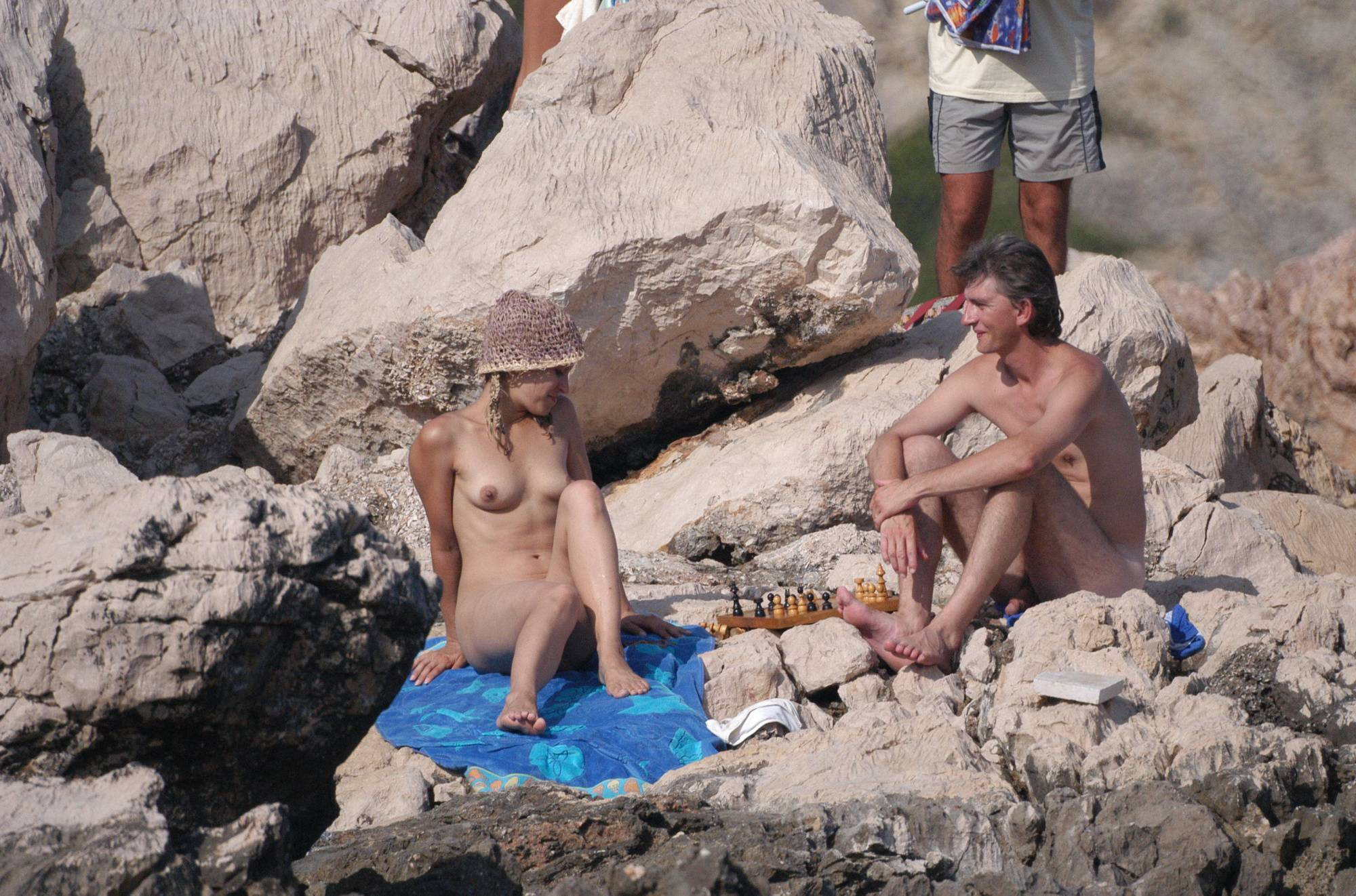Nudist Pics Baska Rock-Top Picnic - 2