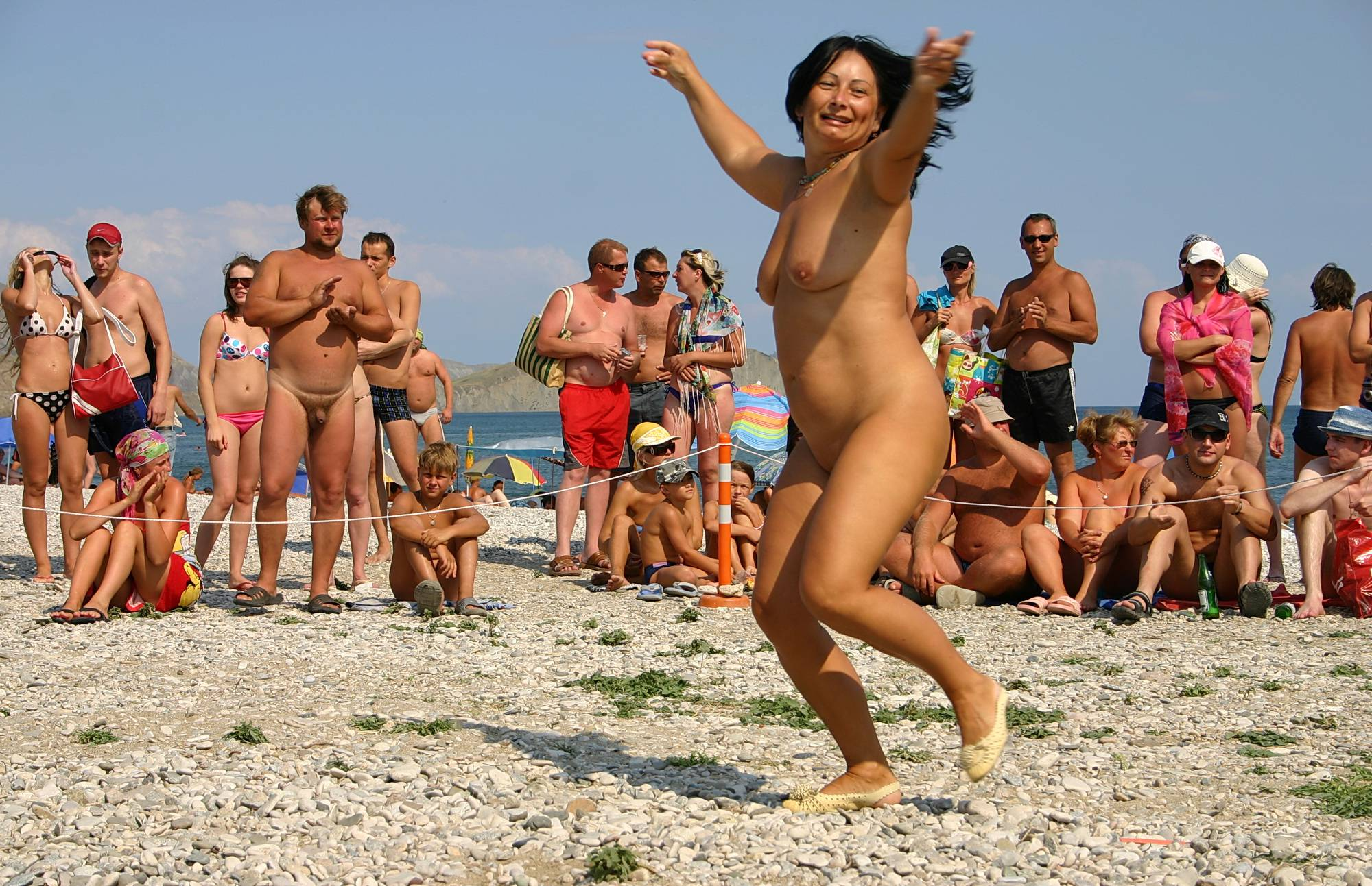 Nudist Photos Pastel Beach Day Dance - 2