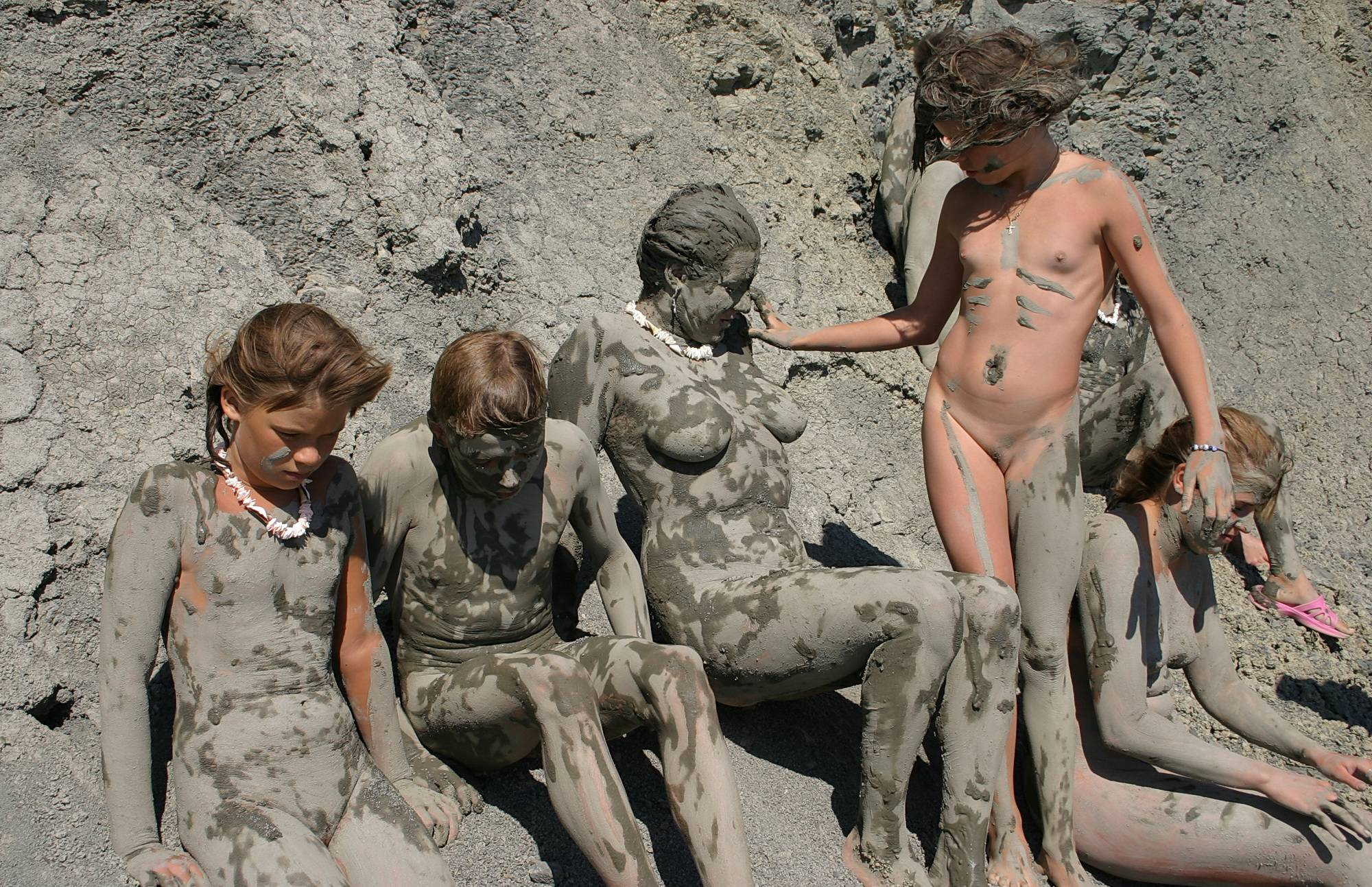 Nudist Pictures Natural Mud Camouflaging - 2