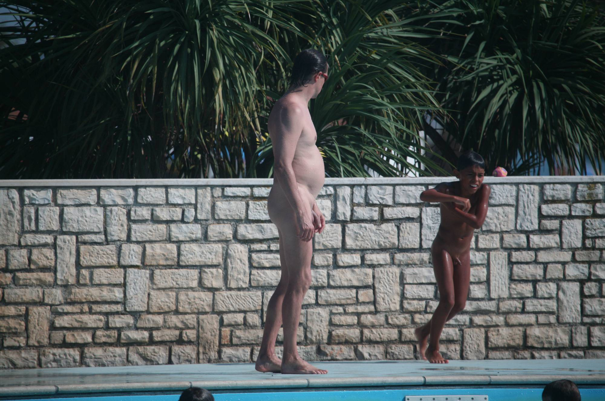 Naturist Sibling Pool Wars - 2