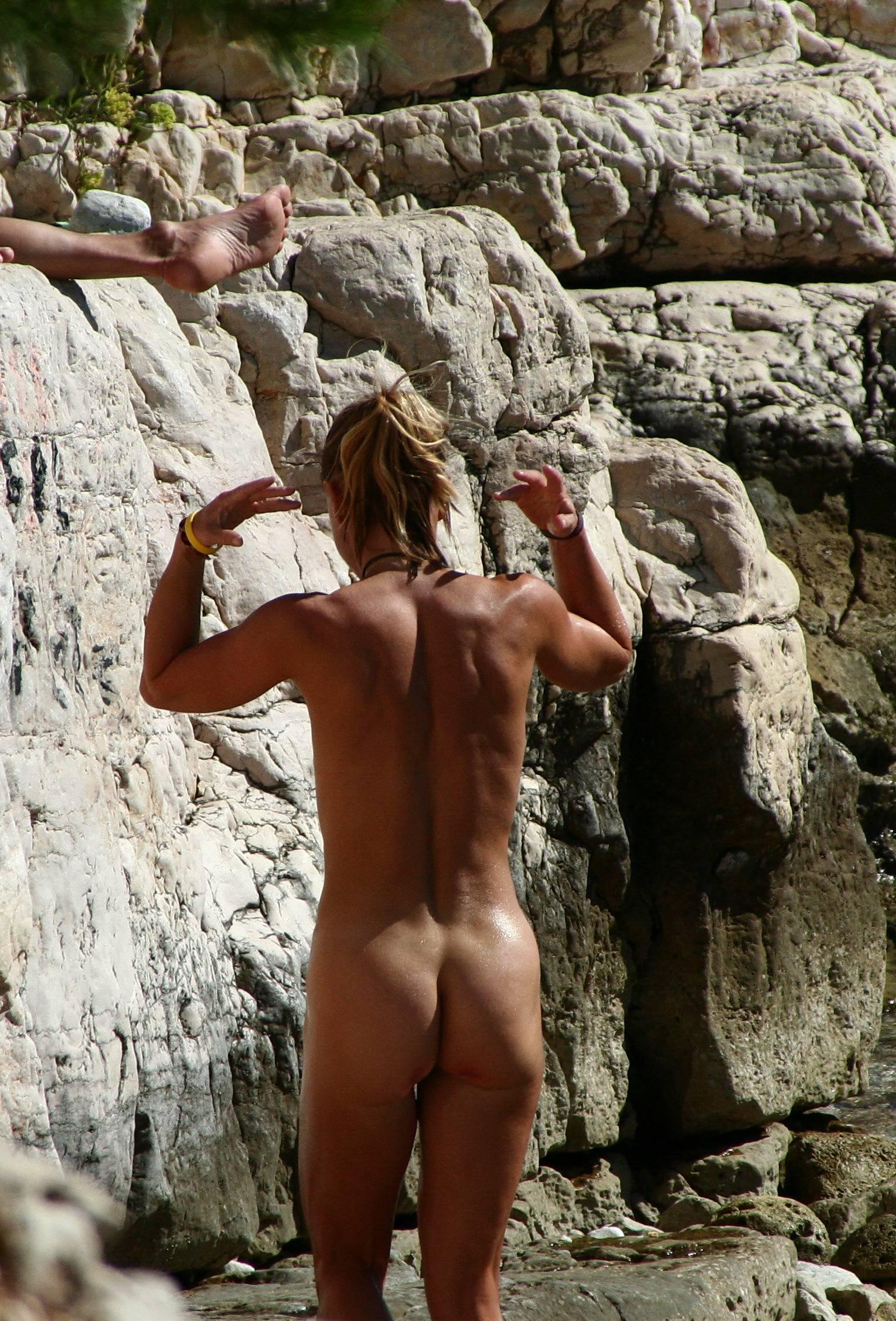 Nudist Gallery Rocky Crag Water Splash - 1