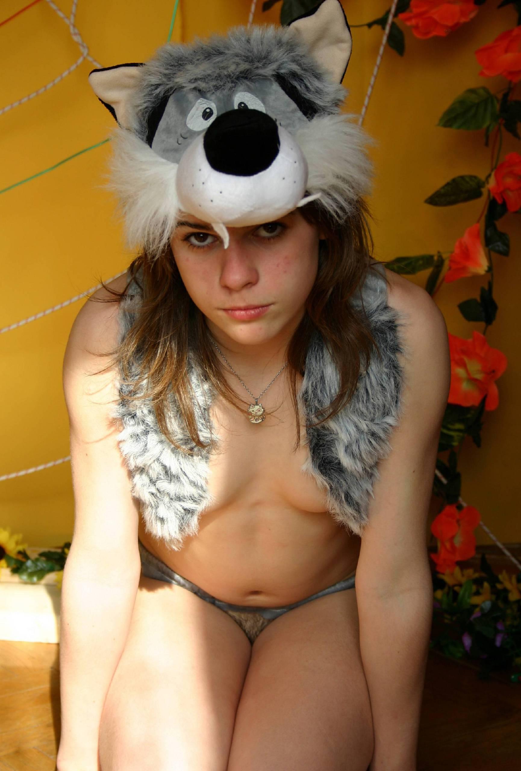 Nudist Photos Nudist and Woolf Costume - 2
