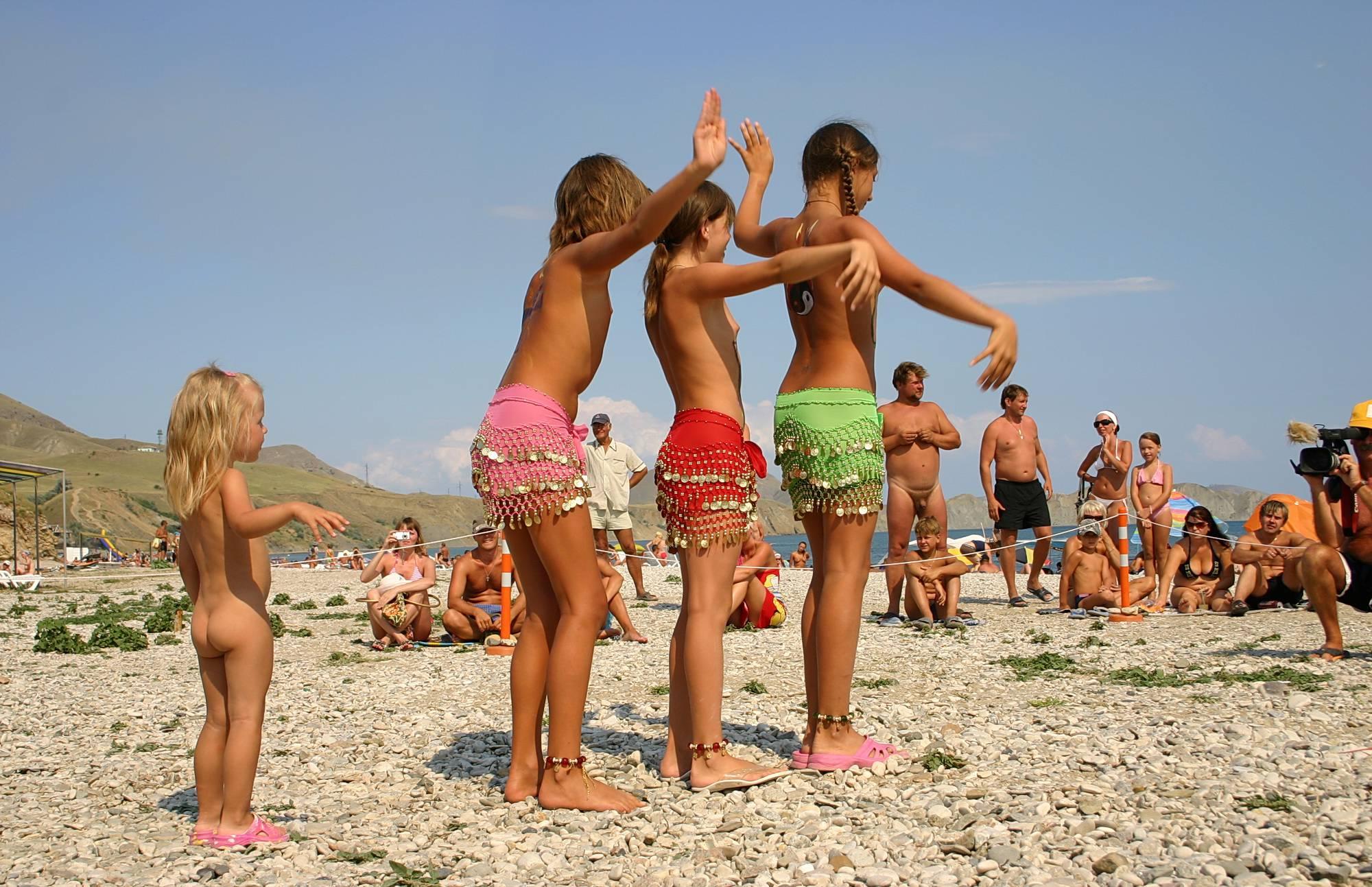 Nudist Gallery Pastel Beach Day Dance - 1