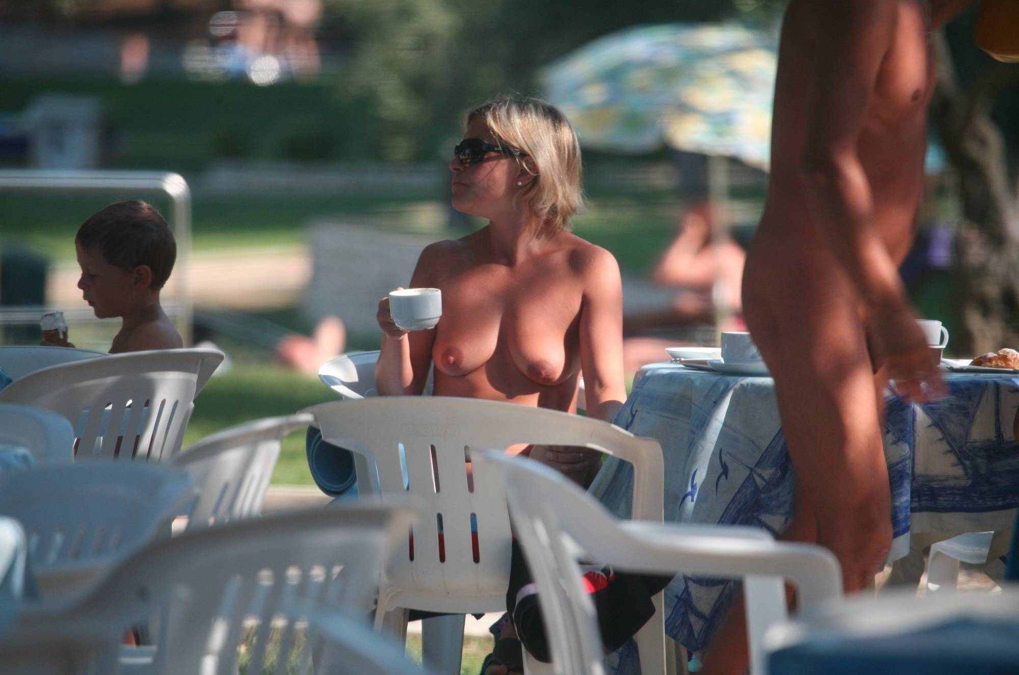 Nudist Photos Pier FKK Outdoor Dinning - 2