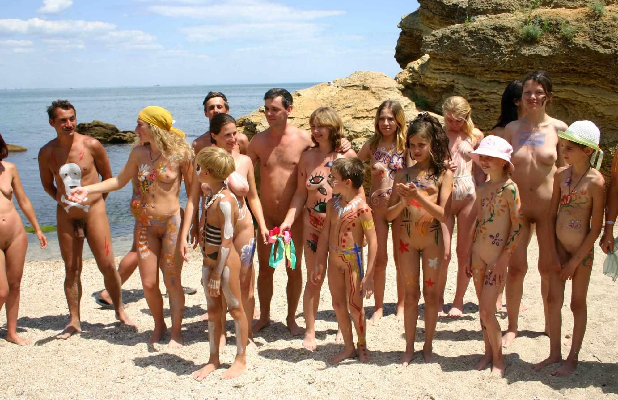 Sand Beach Group Photo - 1