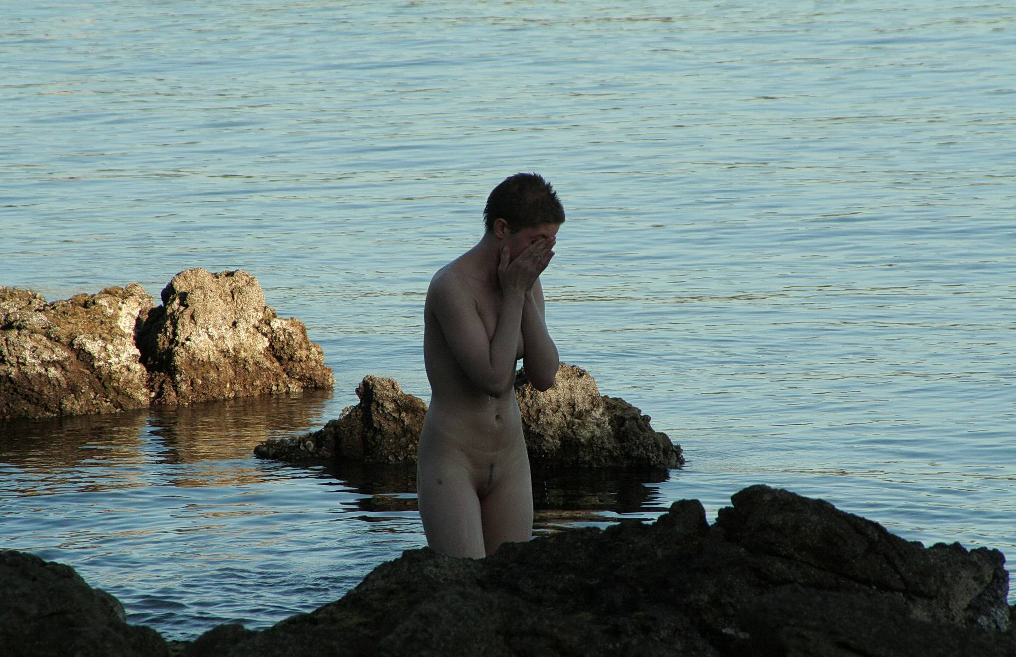 Nudist Photos Shallow Inlet Skinny Dip - 1