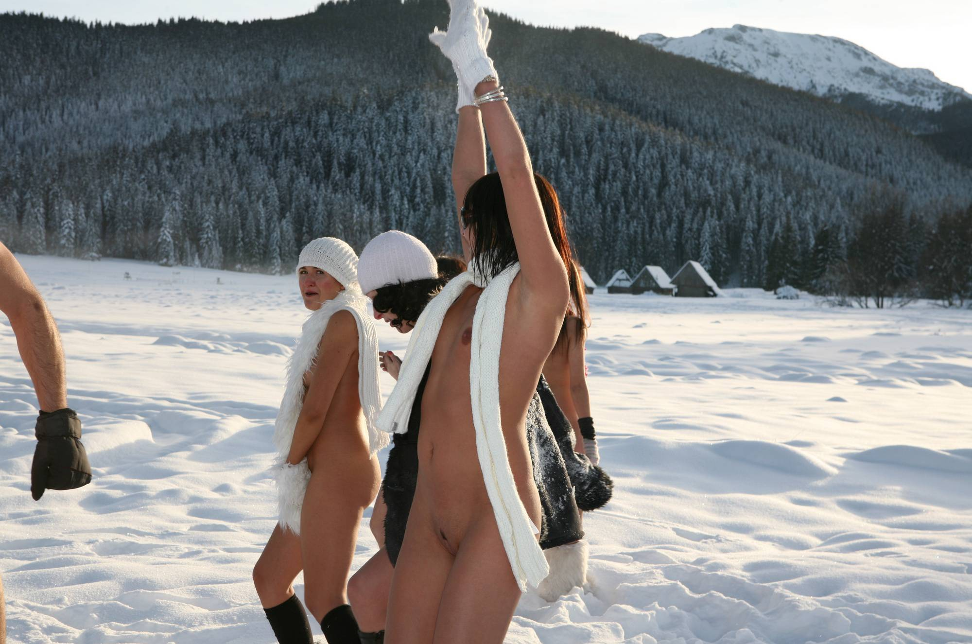 Nudist Gallery Snow Day Girls Snow Play - 2