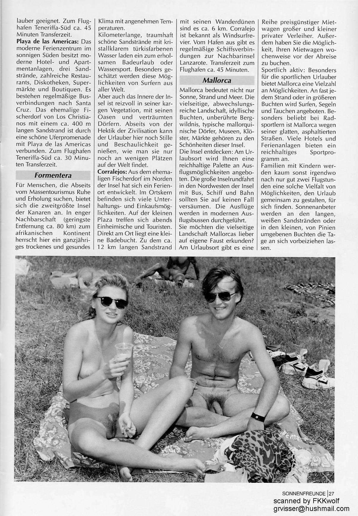 Naturist Magazines Sonnenfreunde 1994 Nr.8 - 2