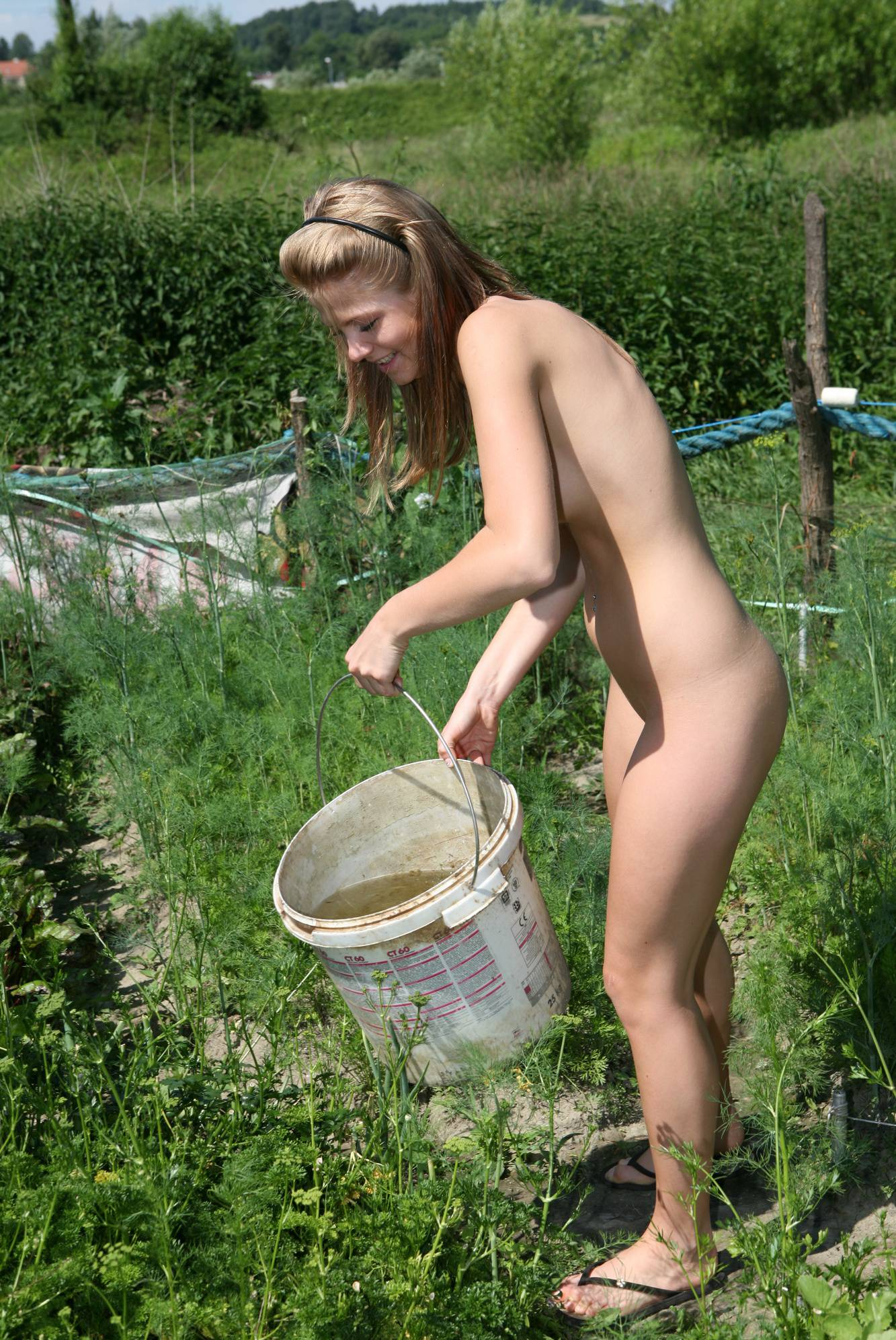 Nudist Pictures Strolling Garden Girls - 1