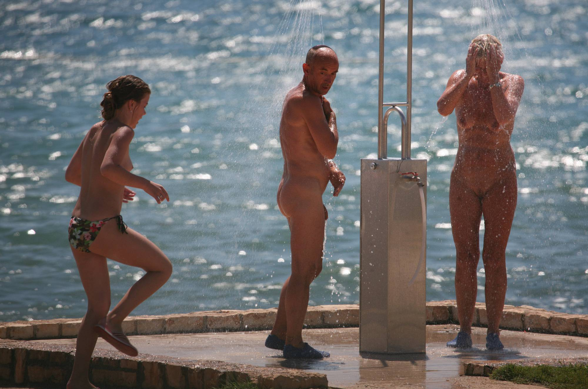 Nudist Gallery Sunnyside Beach Shower - 2