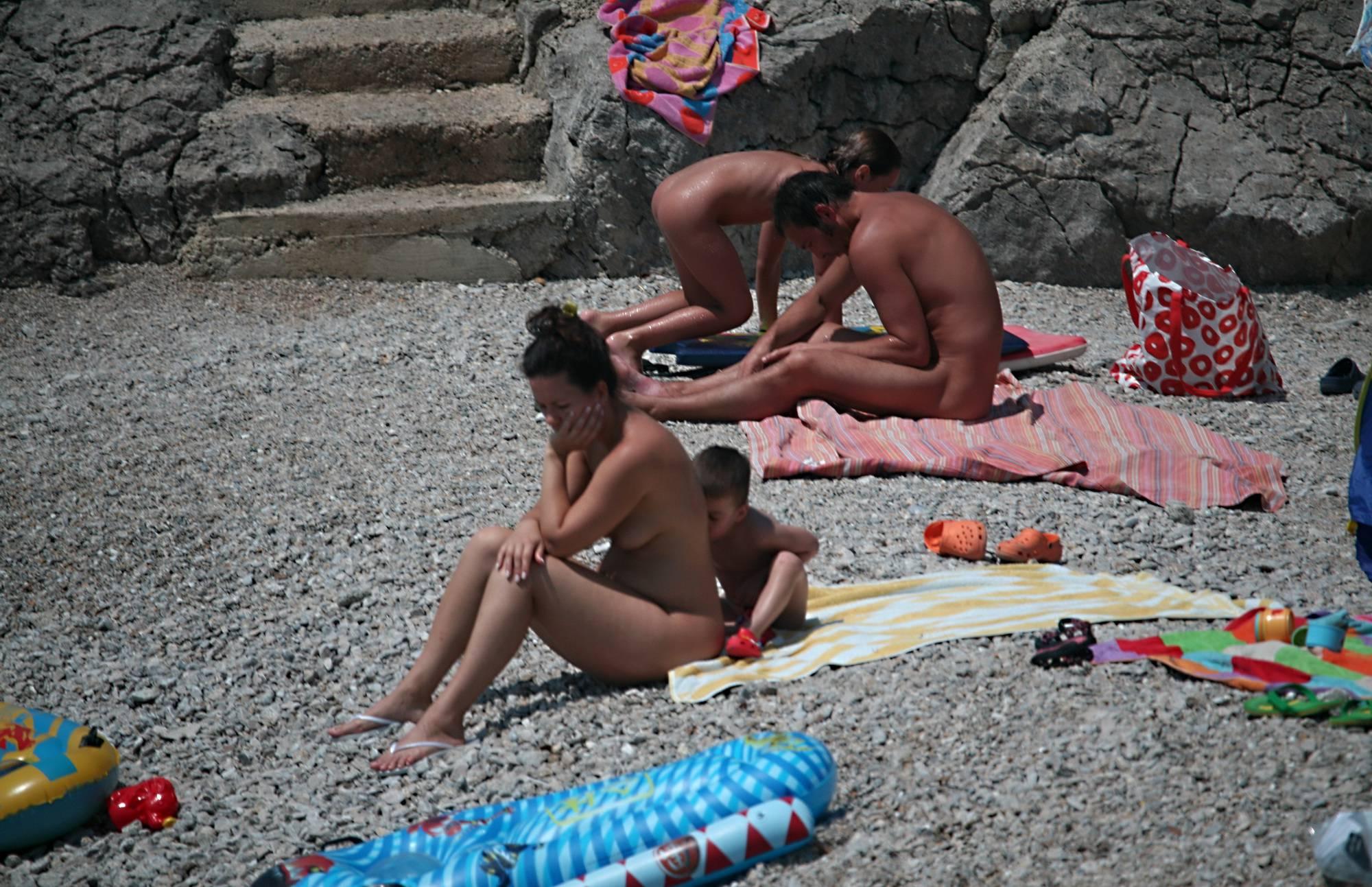 Nudist Pics Surf Board Up The Shores - 1