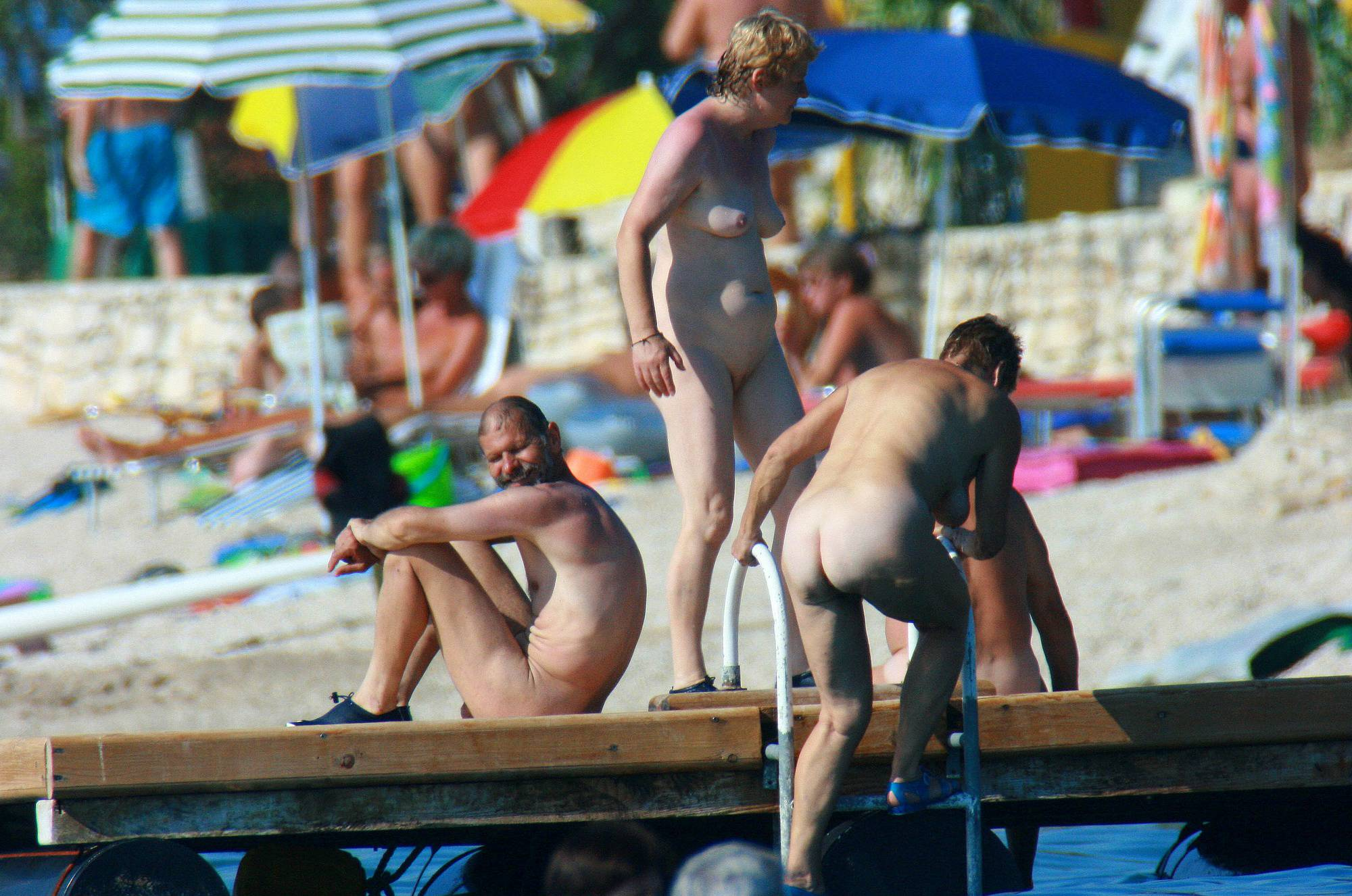 Nudist Photos Ula FKK Wooden Water Slab - 2